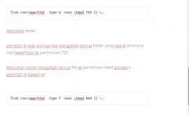 mengubah semua permission file dan folder pada linux