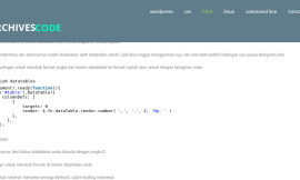 cara menambahkan format rupiah pada datatables