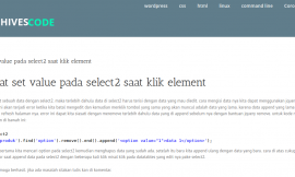 membuat set value pada select2 saat klik element