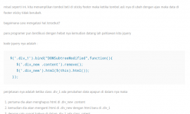 menampilkan html element realtime