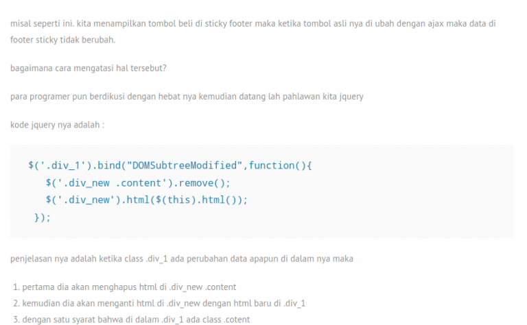 menampilkan html element realtime