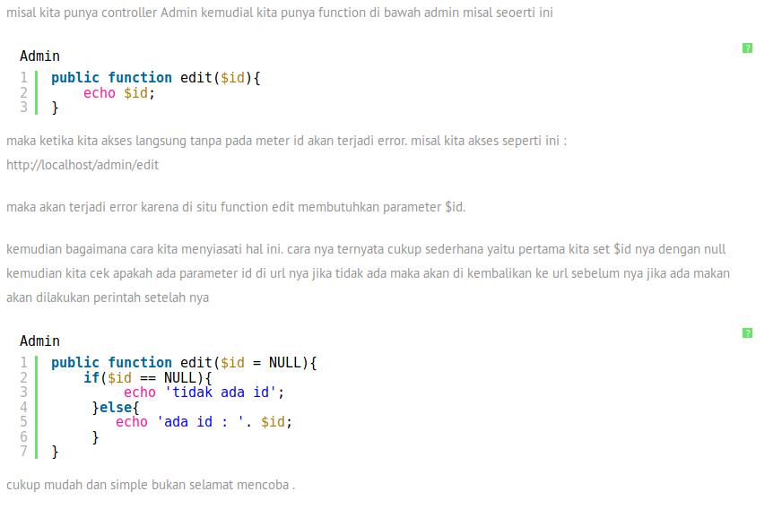 cara menghindari error pada controller codeiginter yang memiliki parameter, Archivescode