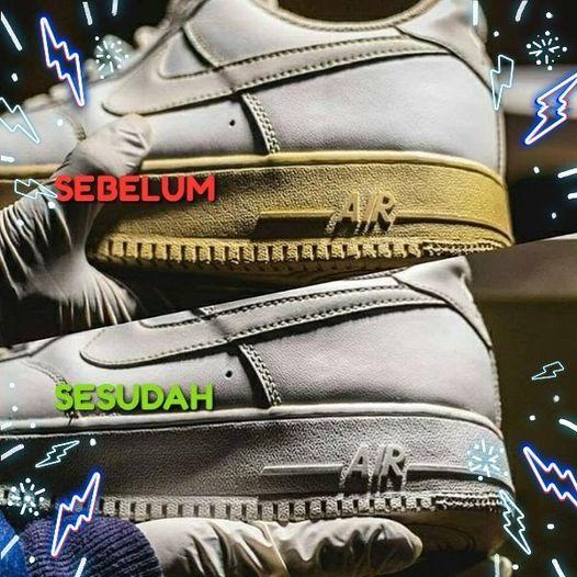 Sol sepatu menguning, begini cara simple mambuat pemutih sol sepatu