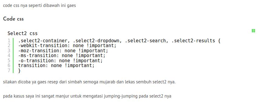 mengatasi select2 scroll ke atas waktu di klik, Archivescode