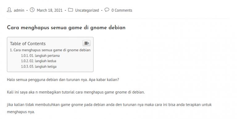 Cara menghapus semua game di gnome debian paling simple