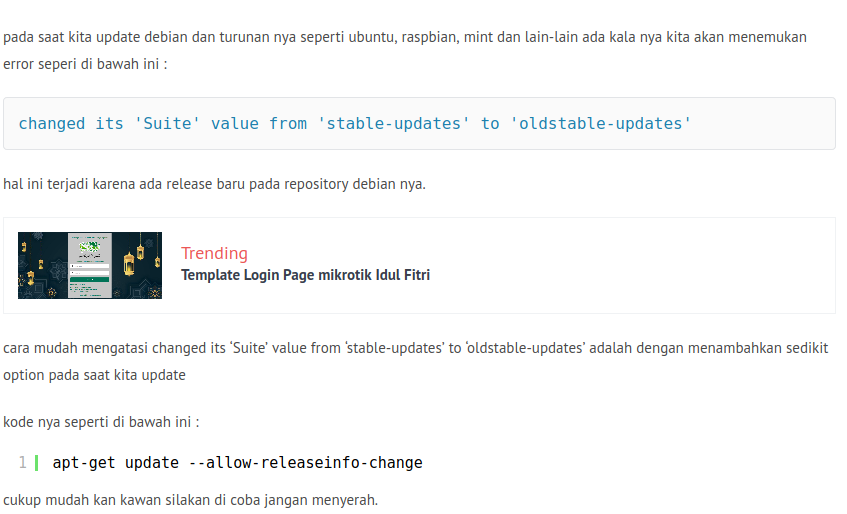 'Suite' value from 'stable-updates' to 'oldstable-updates'