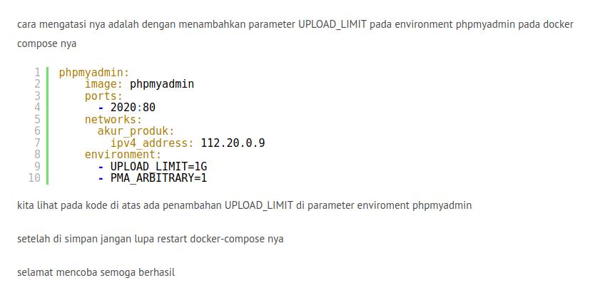 Mengatasi error phpmyadmin Incorrect format parameter, Archivescode